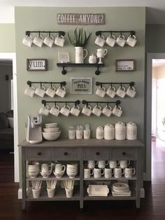 Best Home Coffee Bar Ideas for All Coffee Lovers Are you looking for inspiration to design coffee bar? Check out our best collection of DIY coffee bar ideas for your home that will brighten your morning. Coffee Bar Home, Home Coffee Stations, Beverage Stations, Coffee Bar Design, Coffee Nook, Drink Coffee, Coffee Set, White Coffee, Coffee Tables