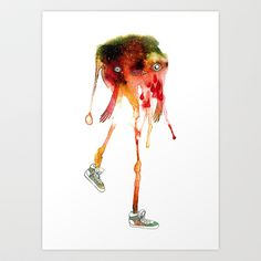Mel Melonhead with Shoes Art Print by Remona Poortman - $18.00