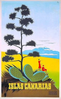 Buy online, view images and see past prices for Travel Poster Canary Islands Art Deco. Invaluable is the world's largest marketplace for art, antiques, and collectibles. Photo Vintage, Vintage Images, Tenerife, Canario, Canary Islands, Vintage Travel Posters, Illustrations And Posters, Vintage Advertisements, Places To Travel