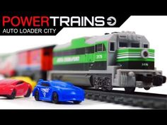 PowerTrains 41389 Auto Loader City Railway with Train & 4 Cars Toys VIDEO FOR CHILDREN - YouTube