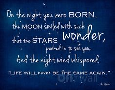 On the Night You Were Born 11x14 Fine Art Print - Perfect for Adoption or Any New Baby
