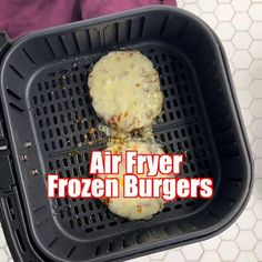 Frozen hamburgers in the air fryer are so quick and easy to make! Grab your patties, toss them in the air fryer seasoned with a delicious burger rub, and serve on a bun with your favorite toppings. #AirFryerFrozenBurgers