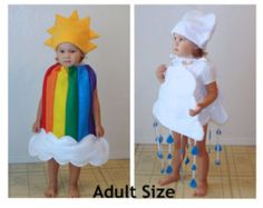 Doble niños arco iris nube disfraces niños Twin Set grupo par