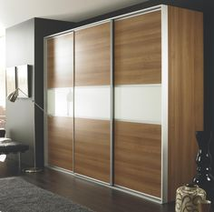 Our freestanding sliding wardrobes offer a quick, convenient solution that you can assemble yourself at home. Each wardrobe comes complete with colour-matched cabinet and doors plus track, fittings, internal shelf and hanging rail. #bedroomfurniture