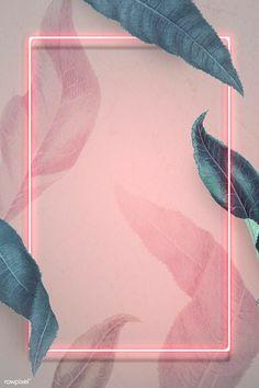 Framed Wallpaper, Flower Background Wallpaper, Neon Wallpaper, Flower Backgrounds, Aesthetic Iphone Wallpaper, Frame Background, Wallpaper Designs, Instagram Frame Template, Instagram Background