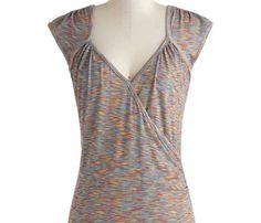 Seemingly Sew Top in Multi. LA Dye & Print INC. Multi. Basic Tops.