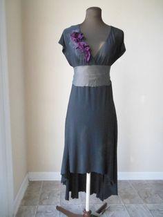 Noir Wedding Dress Alternative Bohemian Dark Bridal Gown Black Plum Woodland Rustic Bohemian Bride - product images  of