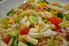 Pasta Salad, Cobb Salad, Slimming Recipes, Cooking Recipes, Healthy Recipes, New Menu, Potato Salad, Food And Drink, Health Fitness