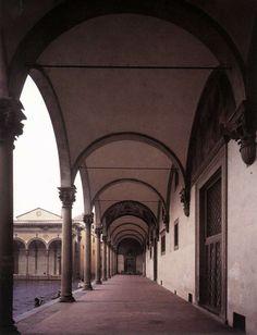 Loggia 1419-26   Ospedale degli Innocenti, Florence   Filippo Brunelleschi