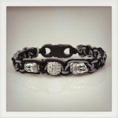 Bracelet bouddhas avec fermoir clipsable