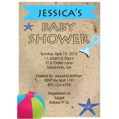 baby shower beach theme invitation | Beach Baby Shower Invitations