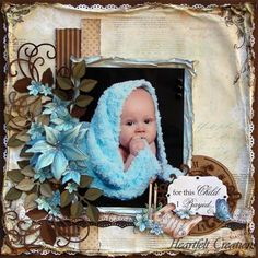 Created by Amarilys Doria, Heartfelt Creations - Love how the color of the blanket melts into the flower.....cute to do with my grandson