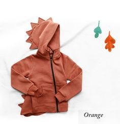 Dinosaur Zip Up Hoodie for girls 1-5. Cool kids fashion, play ready style at Color Me WHIMSY this fall/14.