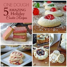 Vanilla Cookie Dough Recipe | by Life Tastes Good is like magic! It is one cookie dough that makes 5 different and amazing cookie recipes! One dough = 5 different cookies!! It is the easiest way to make a variety of homemade holiday cookies! I like easy! Especially during the busy holiday season!
