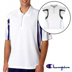 Women's or Men's Champion Double Dry 100% polyester polos keep you cool while you play!