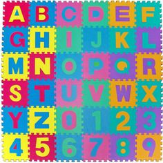 Large Soft Foam EVA Floor Mat Jigsaw Tiles Alphabet Numbers Kids Babies  Puzzle