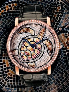Whoa crazy! Cartier turtle mosaic watch.