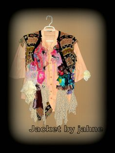 Linen Cotton and Roses Upcycled Romantic Shirt by JacketsbyJahne, $175.00