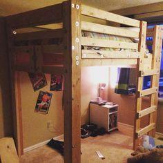 etagenbetten mit treppe hochbetten hochbett plne haus plne hausgemachte mbel zwilling zimmer ideen zuhause diy wood - Hausgemachte Etagenbetten Fr Mdchen