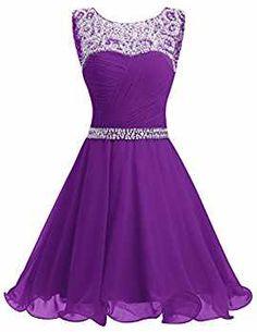 Dresstells® Short Chiffon Open Back Prom Dress With Beading Homecoming Dress Coral Size 6