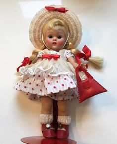 "VOGUE Strung Ginny Doll ""LUCY"" #39, (1952) Tiny Miss Series~Gorgeous!"