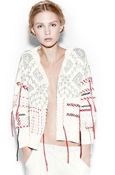 Antik Batik - Omaha Jacket Off White Yvonne Pants White Natty Gal Knitwear Fashion, Knit Fashion, Mode Crochet, Knit Crochet, Women's Summer Fashion, Mode Style, Knitting Designs, Refashion, Pulls