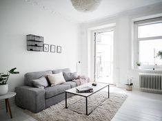 Refrescar una decoración con el color blanco pisos suecos estilo nórdico decoración salones decoración pisos pequeños decoración escandinava decoración blanco blog decoración