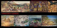Villaggi californiani con abitazioni a cupola o a volta coperte di strami. Le abitazioni delle popolazioni indigene della California variavano a seconda del gruppo etnico, l'area regionale e le stagioni. Normalmente fossero popoli di caccia-raccoglitori nomadi, avevano degli insediamenti principali fissi. Qui trascorrevano oltre un periodo di attività produttiva anche il periodo di pausa invernale. Generalmente questi villaggi disponevano di una grande struttura per i rituali.