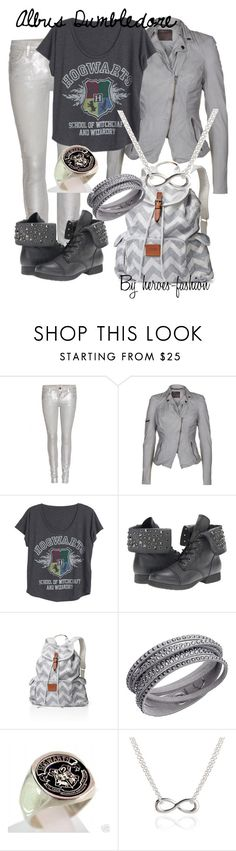 """""""Albus Dumbledore"""" by heroes-fashion ❤ liked on Polyvore featuring Current/Elliott, MuuBaa, Pink & Pepper, Victoria's Secret, Swarovski and Adina Reyter"""