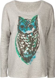 full tilt women's sweatshirts | View Full Tilt Oversized Owl Womens Sweatshirt at Women's Clothing ...