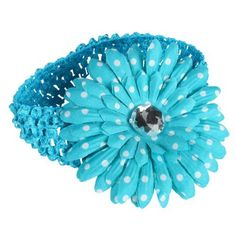 Girls Baby Newborn Child Kids Toddler Infant Daisy Flower Hair Accessories Headband Headbands Head Band (Blue) by Crazy Cart, http://www.amazon.com/dp/B00B54BKAO/ref=cm_sw_r_pi_dp_3l.7rb15X0M63