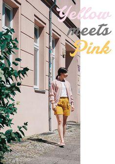 Outfit Inspiration: Wie kann man Rosa und Gelb kombinieren? Eine tolle Farbkombination für den Sommer: In der Mode und in Sachen Einrichtung und Dekoration.
