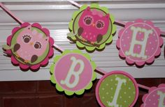 OWL Happy Birthday Banner ... Wide Eyed by APaperPlayground, $19.50