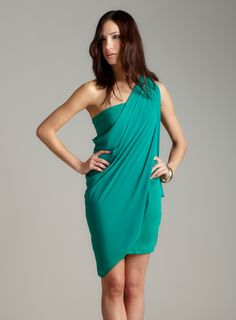 ONE SHOULDER HEAVY DRAPE DRESS. Looking for something like this...where??
