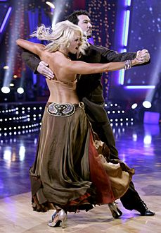 Kym Johnson & Joey Fatone dancing the Tango.