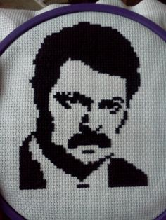 Parks and Rec cross stitch