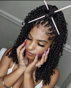 Braids Hairstyles Pictures, Faux Locs Hairstyles, Twist Braid Hairstyles, Black Girl Braids, Braided Hairstyles For Black Women, African Braids Hairstyles, Baddie Hairstyles, Hair Pictures, Girl Hairstyles