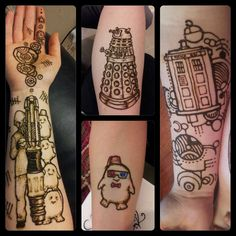 Doctor who tattoo inspiration :) I'm pinning this mostly for the adipose tattoo!! Eek!!