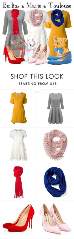 """""""Belioz & Marie & Toulouse"""" by amber2207 ❤ liked on Polyvore featuring Ready to Fish by Ilja, Glamorous, Aéropostale, Boutique Moschino, Old Navy, Christian Louboutin, Sophia Webster, Talbots and ambersdisneybounds"""
