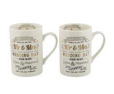 Signography Wedding Collection Mr. And Mrs. Set Of 2 Gift Set