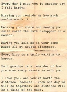 Source: Long Distance Relationship Quotes To Help You & Your Love The Words, Relationships Love, Military Relationships, Quotes About Distance Relationships, Cute Quotes, Sweet Quotes, Cheesy Quotes, Found Out, Beautiful Words