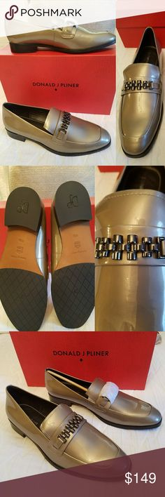 🔻NEW Donald j Pliner loafer Donald j Pliner, Leeza, almond pearlized patent dressy loafer. NEW still in original box and wrapper. Beautiful loafer, in excellent condition. Donald J. Pliner Shoes Flats & Loafers