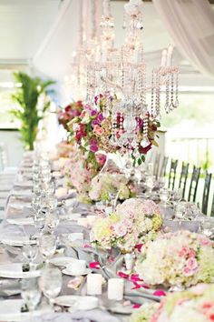 """Beth and Lawson """"Real Weddings Feature"""" // WellWed Spring Summer 2010 - Renaissance Floral Design Wedding Themes, Wedding Events, Wedding Decorations, Wedding Ideas, Table Decorations, Beige Wedding, Chic Wedding, Reception Table, Reception Ideas"""