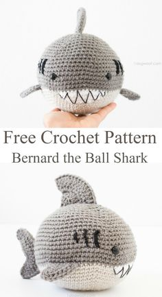 Fun and easy free crochet pattern for this cute amigurumi shark.  Crochet a cuddly shark that even the youngest kids will love. free crochet pattern for a shark.
