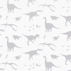 D'ya-think-e-saurus - White - Artisanal Wallpaper from The Wallpaper Collective