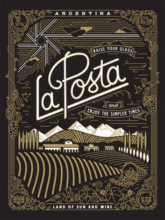La Posta poster by Jose Canales