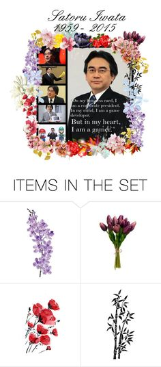 """R.I.P. Mr. Iwata"" by mugetsu ❤ liked on Polyvore featuring art"