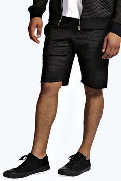 Neoprene Shorts with Zips - black