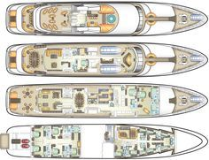 Deck plans, specifications and equipment - Cruise the Caribbean and Mediterranean on private luxury yacht Majestic