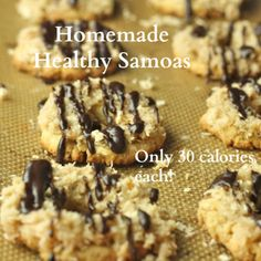 Homemade Healthy Samoas- only 30 calories each!